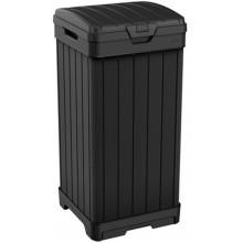 KETER BALTIMORE 125 L odpadkový koš, 41 x 41 x 87,4 cm, černá 17206192
