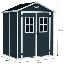 KETER MANOR 6 x 5 DD zahradní domek s okny, 185 x 152 x 226 cm 17197128