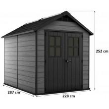 KETER NEWTON 759 zahradní domek, 228 x 287 x 252 cm, šedý 17208504