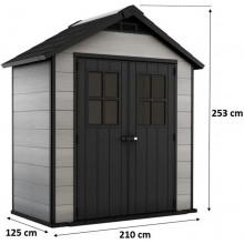KETER OAKLAND 754 zahradní domek, 210 x 125 x 253 cm, šedá/antracit 17197419