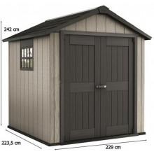 KETER OAKLAND 757 zahradní domek, 229 x 223,5 x 242 cm, šedá/antracit 17201310