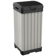 KETER ROCKFORD 125 L odpadkový koš, 41 x 41 x 87,4 cm, šedá 17205944