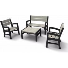 KETER MONTERO Set zahradní z laviček, grafit/šedá 17205049