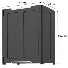 KETER MAGIC skříň 77 x 90,5 x 48 cm, tmavě šedá 236775