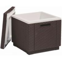 ALLIBERT ICE CUBE chladící box, hnědá 17194600