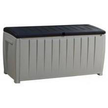 KETER NOVEL 340L zahradní úložný box 124 x 55 x 62,5 cm, šedá/černá 17197948