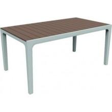 KETER HARMONY stůl 160 x 90 x 74cm, bílá/cappuccino 17201231