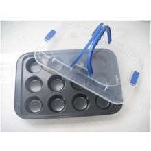 KAISERHOFFPečící plech na 12 muffin s přenosným plastovým krytemKH-8292
