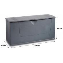 KIS KARISMA 200L skladovací box 119x40x59cm tmavě šedá