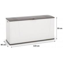 KIS KARISMA 200L skladovací box 119x40x59cm bílá/šedá