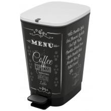 KIS CHIC BIN M 35L odpadkový koš 40,5x26,5x45cm coffee menu