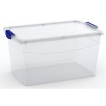KIS OMNI LATCH BOX L 50L 59x39x30cm transparentní