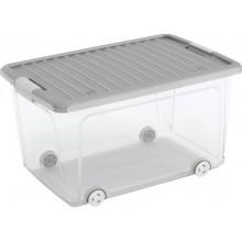 KIS W BOX L 50L 59x39x32cm transparentní/šedé víko