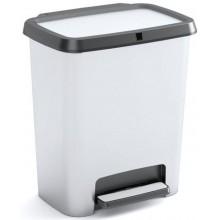 KIS COMPATTA RECYCLING STYLE 12+12L STEEL odpadkový koš 38x28x43cm