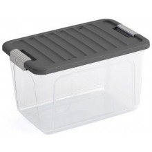 KIS W BOX S 15L 38x25x23cm transparentní/šedé víko