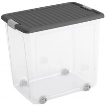 KIS W BOX XL 78L 57x39x52cm transparentní/šedé víko
