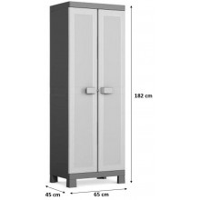 KIS LOGICO HIGH skříň 65x45x182cm grey/black 9634000