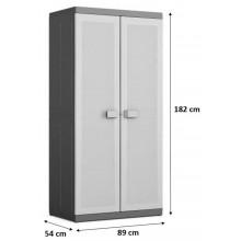KIS LOGICO XL HIGH skříň 89x54x182cm šedá/černá