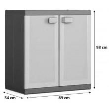 KIS LOGICO XL LOW skříň 89x54x93cm grey/black 9695000