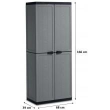KIS JOLLY HIGH skříň 68x39x166cm tmavě šedá