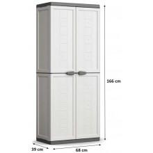 KIS JOLLY HIGH skříň 68x39x166cm bílá/šedá