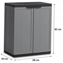 KIS JOLLY LOW skříň 68x39x85cm tmavě šedá