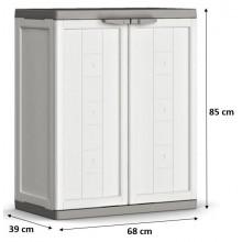 KIS JOLLY LOW skříň 68x39x85cm bílá/šedá