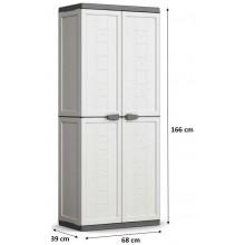 KIS JOLLY UTILITY skříň 68x39x166cm bílá/šedá