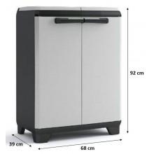 KIS SPLIT PREMIUM skříň na třídění odpadu 68x39x92cm šedá/černá