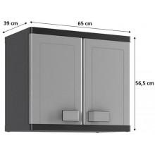 KIS LOGICO WALL skříň 65x39x56,5cm grey/black 9743100