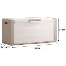 KIS GULLIVER CHEST 300L úložný box 118x49x55cm béžová