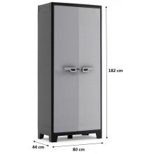 KIS TITAN MULTISPACE skříň 80x44x182cm šedá/černá