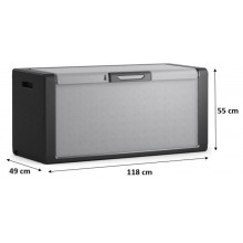 KIS TITAN CHEST 300L úložný box 118x49x55cm šedá/černá