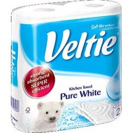 KLEENEX Welcomes Veltie Pure White Kuchyňské utěrky 2 role, 2-vrstvé 148603
