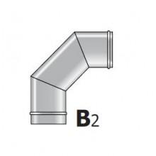 Koleno kouřové 80/90° pro kamna na pelety EC90/80