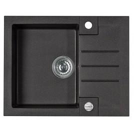 ALVEUS Rock 30 granitový kuchyňský dřez 595x475 mm, černá