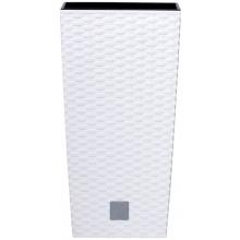 Prosperplast RATO SQUARE květináč 26 cm, 26,6l, bílá DRTS265