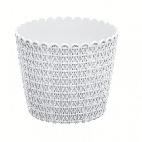 Prosperplast NITLY květináč 12,8 cm, bílá DNY130