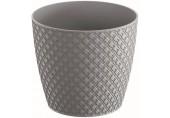 Prosperplast ORIENT Květináč 21,8 cm, šedý kámen DOR220