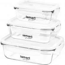 LAMART LT6011 AIR dózy set 3ks obdelníkové