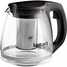 LAMART VERRE LT7025 konvice skleněná 1,1l černá 42002257