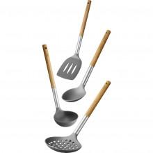 LAMART LT3900 WOOD set kuchyňského náčiní 4ks 42002761