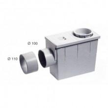 Lapač střešních splavenin - boční průměr 80(100) / 100(110) šedý 003011