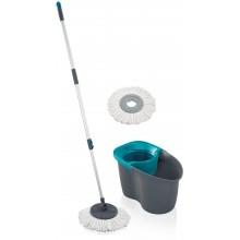 LEIFHEIT Set CLEAN TWIST Disc Mop Active grey lagoon 55269