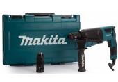 MAKITA Kombinované kladivo s výměnným sklíčidlem v kufru 2,4J, 800W HR2630T