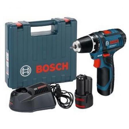 BOSCH GSR 12V-15 Professional aku šroubovák, v kufru, 2x2Ah, 0601868122