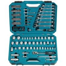 MAKITA E-06616 sada bitů a nástrčkových klíčů s ráčnou 120 ks