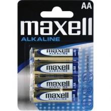 MAXELL Alkalické tužkové baterie LR6 4BP 4xAA (R6) 35009655