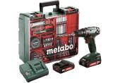 METABO BS 18 MD Set Akumulátorový vrtací šroubovák (2x2,0Ah/18V) 602207880