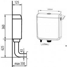 AQUALINE Splachovací nádržka, spodní napouštění, T1801